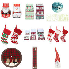 Christmas Tree Skirt Round Home Decor Xmas Candy Gifts Bags Box Party Decoration