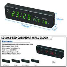 Electronic LED digital wall clock with temperature and humidity display clock-