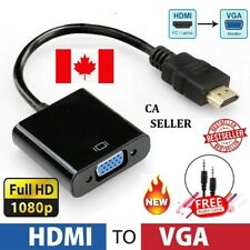 HDMI Male To VGA Female Video Adapter Cable Converter 1080P Chipset PC Laptop TV