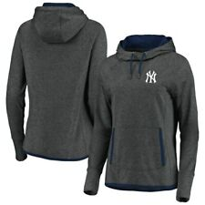 New York Yankees Fanatics Branded Women's Cowl Pullover Hoodie - Charcoal