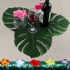 Artificial Tropical Palm Leaf 12pcs Lifelike Leaves Hawaiian Party Table Decors
