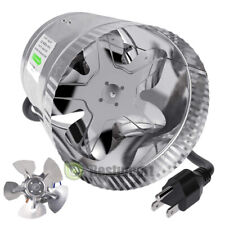 """110V Duct Booster Inline Blower Fan Blower Exhaust Ducting Cooling Vent 4"""" 6"""" 8"""""""