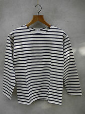 BRETON SHIRT by GUY COTTON in CREAM and NAVY STRIPED  FRENCH SHIRT XS-XXXL