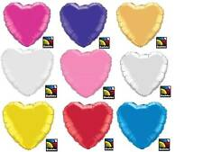 FREE S&H Solid Color HEART Mylar Party Balloon YOU PICK