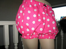 New Lolita Black White Pink spotted Sissy Shorts Bloomers pantaloons Party Hippy