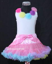 Blue Yellow Pink Pettiskirt Rainbow Top Tutu 1-8Y M153