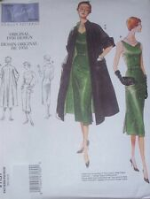 Vogue 1137 Misses' Coat and Dress 1950 Design Pattern Sz 8-14 or 16-22