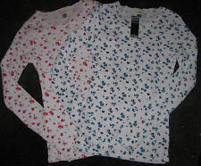 NEW! so low Waffle Weave Floral Thermal SHIRTS XS S $59