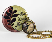 Handcrafted Live Laugh Love Mirror / Pendant Gift Sets