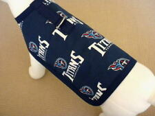 Dog Harness Clothes Coat Made From NFL Tennessee Titans Fabric