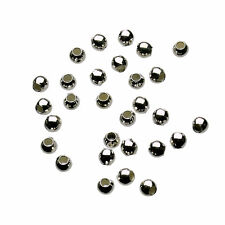 925 Sterling Silver 2mm Seamless Round Beads ITALY