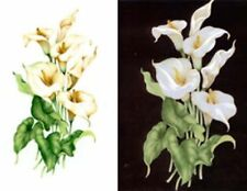 White Calla Lily Flower Waterslide Ceramic Decals Tx