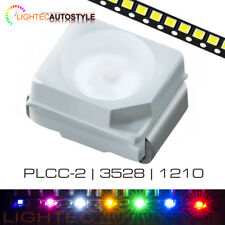 10x PLCC-2 3528 SMD LEDS SURFACE MOUNT BLUE PINK RED WHITE GREEN SMT