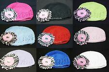 Crochet Cap Hat Headgear Light Pink Zebra Daisy 4 Skirt