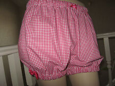 NEW Cool Lolita,Pink White black Gingham Check Sissy Shorts Bloomers Pantaloons