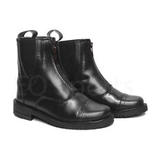 Leather Zip Fronted Jodhpur Boots BLK & BRN 1-10