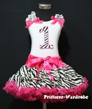 Hot Pink Zebra Pettiskirt Zebra 1st Birthday Baby Top