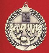 """2-3/4"""" MS Bowling Medals w/Ribbon Any Qty Ships Flat Rate $5.49 in USA"""