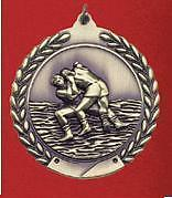 """2-3/4"""" MS Wrestling Medals w/Ribbon Any Qty Ships Flat Rate $5.49 in USA"""