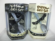 New Pet Gift Sets Kitten Or Puppy Bowl Spoon & Collar ONLY £4.99!