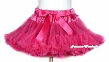 Hot Pink FULL Pettiskirt Skirt Petti Party Dance Tutu Dress Child Girl 1-8Y