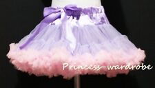 Lavender Light Pink FULL Pettiskirt Skirt Petti Party Dance Tutu Dress Girl 1-8Y