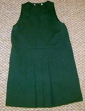 M & S NEW GIRLS SCHOOL DRESS BROWN GREEN AGES 4 5 6 7 8 9  PINAFORE