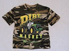 "NWT JOHN DEERE 4 5/6 7 Boys T Tee Shirt ""DIRT MAGNET"" CAMO Small Medium Large"