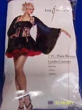2 pc. Plum Blossom Geisha Black Asian Leg Avenue Halloween Sexy Adult Costume