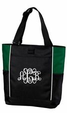 Tote Bag Monogram Tote Personalized Initial Tote Gym Bag Work or School Tote