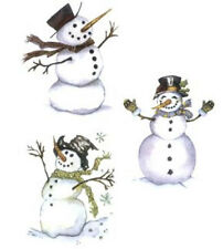 Christmas Happy Snowman Select-A-Size Waterslide Ceramic Decals Ox