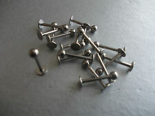 CHOOSE BAR LENGTH & THICKNESS ,10 X SURGICAL STEEL LIP/TRAGUS BARS,6,8,10,12MM