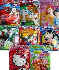 CHARACTER SURPRISE FILLED PARTY BAGS (20g)(A4/Sweets/Toys){fixed £1 UK p&p}