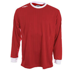 Viga Red And White Long Sleeved Team Football Shirts rrp£25