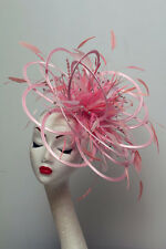 Baby Pink Rhinestone Diamante Fascinator Hat Choose any colour Satin or Feather
