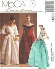 McCall's 3681 OOP Renaissance LINED TOPS & SKIRTS Pattern