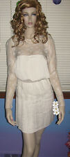 NEW! FREE PEOPLE Pleated Crepe YOUNG VICTORIAN Lace DRESS 0 2 4 6 8 12 $228