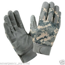 ACU Army Digital Camouflage Moisture Wicking Duty Combat Glove FREE SHIPPING