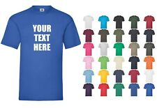 CUSTOM PRINTED T-SHIRT FRUIT OF THE LOOM PERSONALISED STAG HEN NIGHT WORK OFFICE
