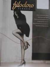 Italian Filodoro Aurora 15 Pantyhose. Made in Italy Quality. 4 Sizes. 2 Colors