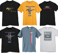 Mens Ford t-shirt built ford tough racing mustang pony horse power tee shirt