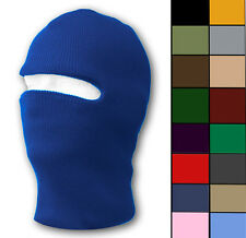 RIBBED BALACLAVA 1-HOLE SKI SNOWBOARDING WINTER FACE MASK - VARIOUS COLORS