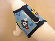 Dog Harness Vest Clothes Apparel Made From Mickey Mouse Fabric