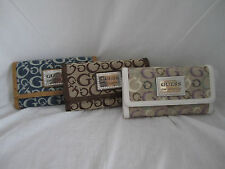 Guess Taluca SLG Checkbook Wallet FF282738  Cloth & Faux Leather NEW