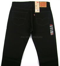Levis 505 Jeans New Mens BLACK Straight Fit Zipper Fly - Many Sizes