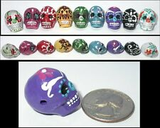 Hand Painted Ceramic Day of the Dead SUGAR SKULL Bead - 9 Color Options!