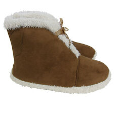 Ladies Faux Suede Eskimo Furry Ankle Boot Winter Slippers Womens Sizes UK 3-8
