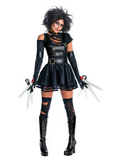 Ladies Adult Miss Edward Scissorhands Halloween Fancy Dress Costume & Wig Outfit