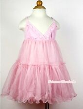 Pageant Gown Light Pink Long Evening Dress Cocktail Party Skirt Girl 2-7Y PD022