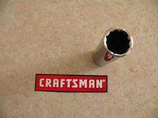 "NEW CRAFTSMAN 1/2"" Drive Dr DEEP METRIC mm SOCKET 12-pt Point Wrench - ANY SIZE"